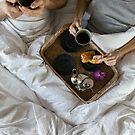 Couple Drinking Coffee in Bed by visualspectrum