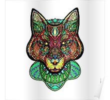 Psychedelic fox Poster