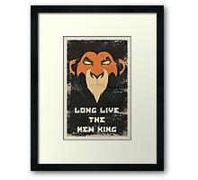 Long Live the New King Propaganda Framed Print