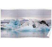 Jokulsarlon Icebergs Poster