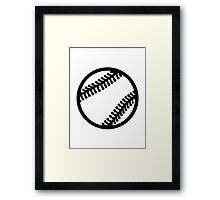 Baseball icon Framed Print
