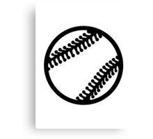 Baseball icon Canvas Print