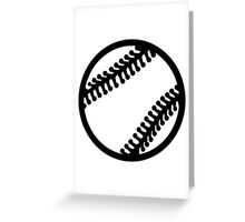 Baseball icon Greeting Card