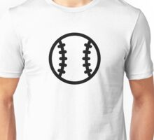 Black Baseball ball Unisex T-Shirt