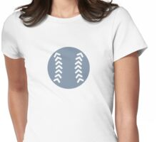 Grey Baseball Womens Fitted T-Shirt