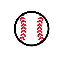 Baseball ball Photographic Print