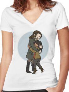 Sleepy Hollow Valentine Women's Fitted V-Neck T-Shirt