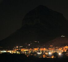 Montgo Mountain at Night by Pamela Jayne Smith