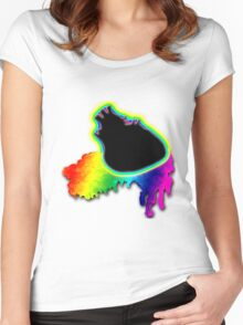 Leaking Love From My Black Heart Women's Fitted Scoop T-Shirt