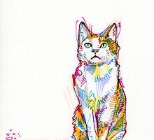 Cat drawing by Gwenn Seemel