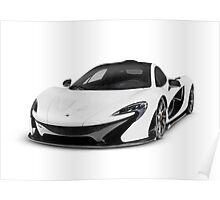 McLaren P1 plug-in hybrid supercar art photo print Poster