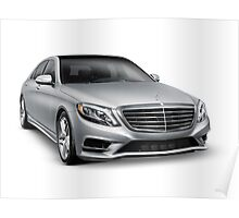 Mercedes-Benz S550 4MATIC luxury car art photo print Poster