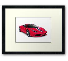 Ferrari 458 Speciale sports car art photo print Framed Print