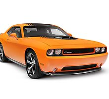 2014 Dodge Challenger muscle car art photo print by ArtNudePhotos
