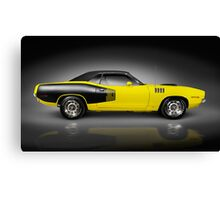 1972 Dodge Challenger retro sports car art photo print Canvas Print