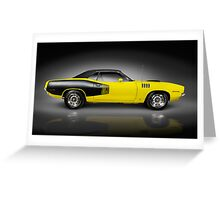 1972 Dodge Challenger retro sports car art photo print Greeting Card