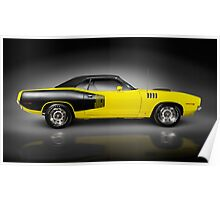 1972 Dodge Challenger retro sports car art photo print Poster