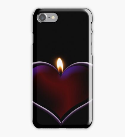 Candle heart iPhone Case/Skin