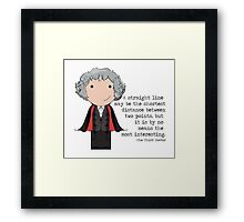 Doctor Who Third Doctor quote  Framed Print