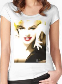 Portrait of Marilyn Monroe Women's Fitted Scoop T-Shirt