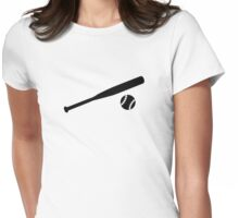 Baseball Bat Womens Fitted T-Shirt