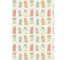 Houses pattern Photographic Print