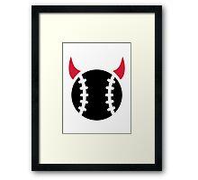 Baseball devil Framed Print