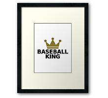 Baseball King crown  Framed Print