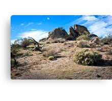 The Sky the Wind and the Desert Hills Canvas Print