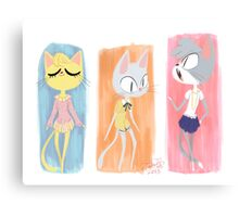 Kitty Fashion Canvas Print