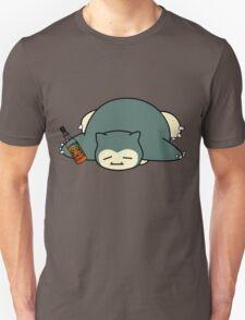 Drunk snorlax with Jack Daniel's T-Shirt