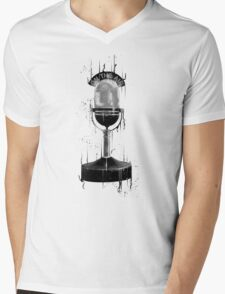 DARK ON THE AIR Mens V-Neck T-Shirt