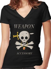 Weapon Accessory - Final Fantasy VII Women's Fitted V-Neck T-Shirt