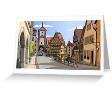 Summer in Rothenburg ob der Tauber, Germany Greeting Card