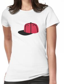Red black Baseball Cap Hat Womens Fitted T-Shirt