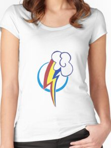 Rainbow Dash's Cutie mark Women's Fitted Scoop T-Shirt