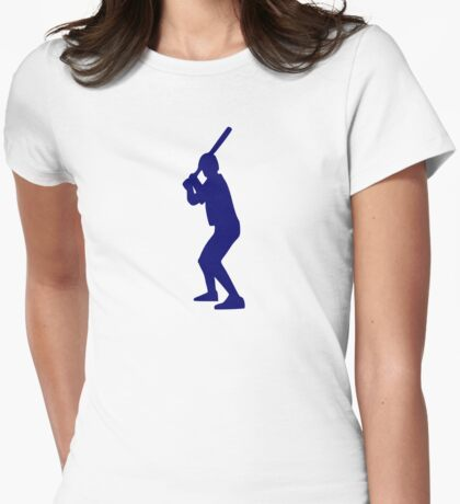 Baseball player Womens Fitted T-Shirt
