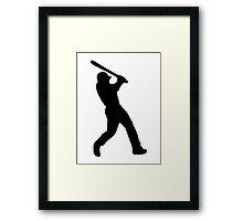 Baseball batter Framed Print