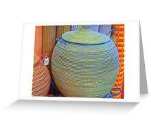 Linen Baskets And Mats Greeting Card