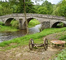 Rural France With Old Stone Arched Bridge by Menega  Sabidussi
