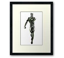 Green Lantern colored edited Framed Print