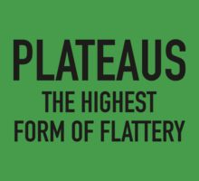 Plateaus The Highest Form Of Flattery by BrightDesign