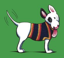 Bull Terrier in Blue Kids Clothes