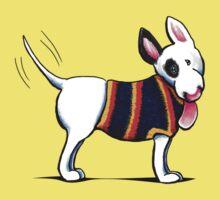 Bull Terrier in Blue One Piece - Short Sleeve