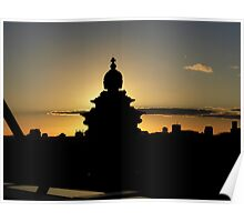 Reichstag at dusk / sunset Poster