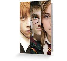 Harry Potter - The Wizard Trio Greeting Card