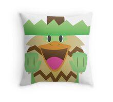 The Happiest Ludicolo Throw Pillow