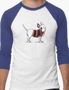No Bull Love My Bull Terrier {dark} Men's Baseball ¾ T-Shirt