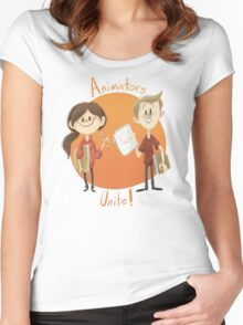 Animators Unite Women's Fitted Scoop T-Shirt