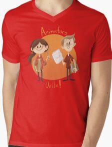 Animators Unite Mens V-Neck T-Shirt